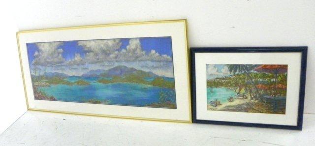 1005: Gutzwiller Tropical Beach Scene pastel