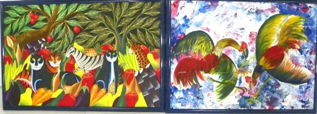 1006: Two Haitian Paintings, one Ernest Pierre