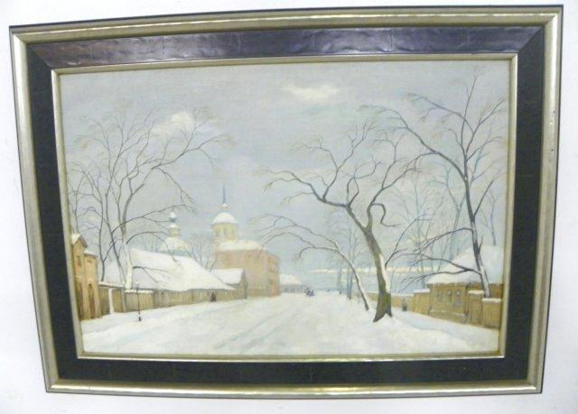 1009: Winter Scene oil painting