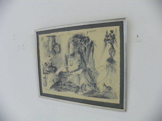 """1016: Picasso """"La Flute Bouble"""" lithograph"""
