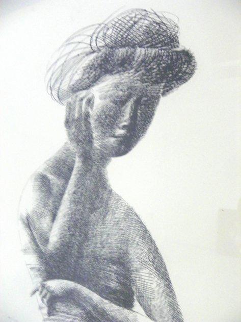 1018: Emilio Greco Female Torso etching