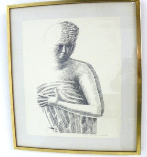 1021: Emilio Greco Female Torso etching