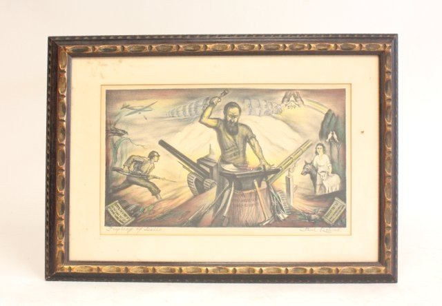 1024: Saul Rabino Prophecy of Isaiha lithograph