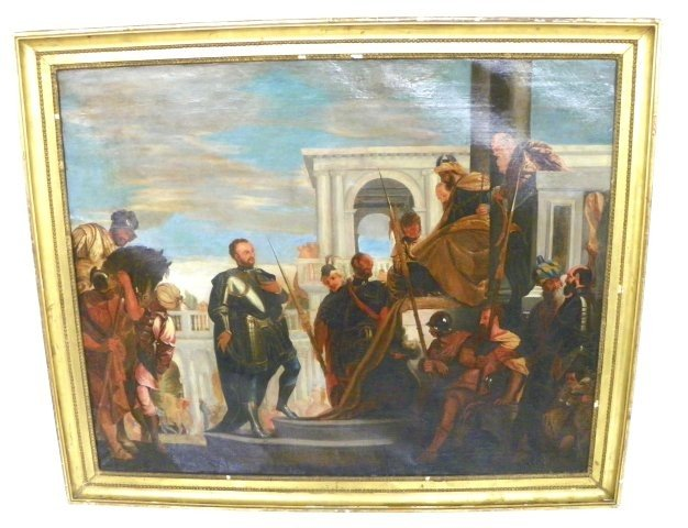 """1102: After Veronese """"The Petitioners""""  oil painting"""
