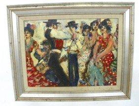 Flamenco Dancers Oil Painting