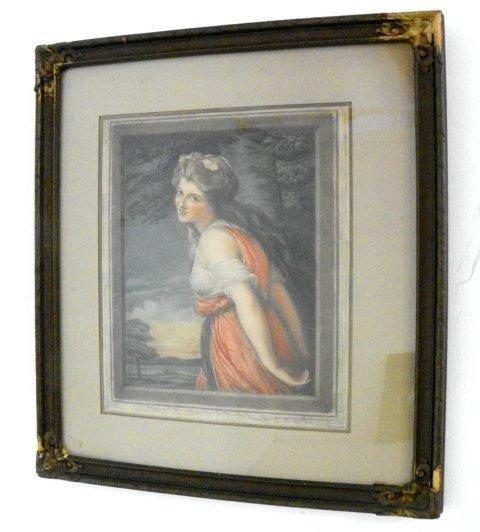 1204: Neoclassic Lady aquatint