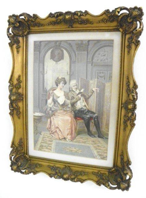 1207: Giuseppe Furely Genre Scene watercolor