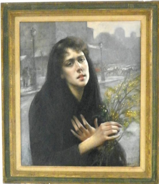 1210: Maxime Dastague Woman in Paris oil painting