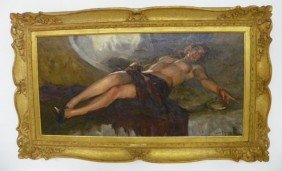 Reclining Nude Oil Painting T. Richard