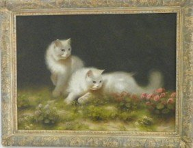 Two Cats Oil Painting