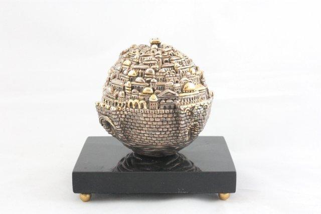 1252: Ben Zion silver Jerusalem sculpture