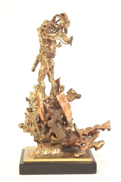 1260: Sean Rice Poseidon bronze sculptue