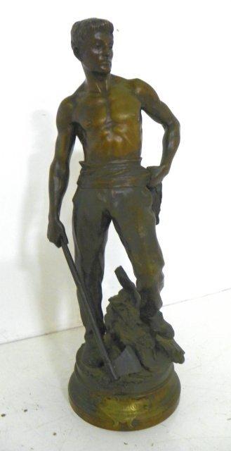 """1262: Marice Constant bronze """"Boucheron"""" sculpture"""