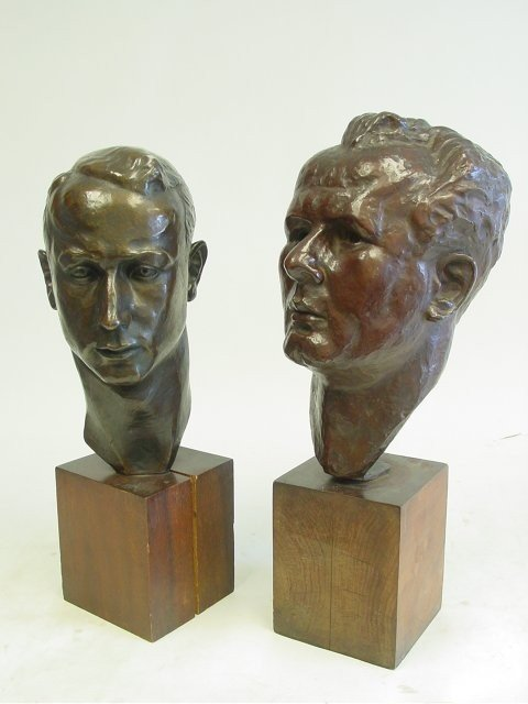 1265: Maria Nunez Two Bronze Heads