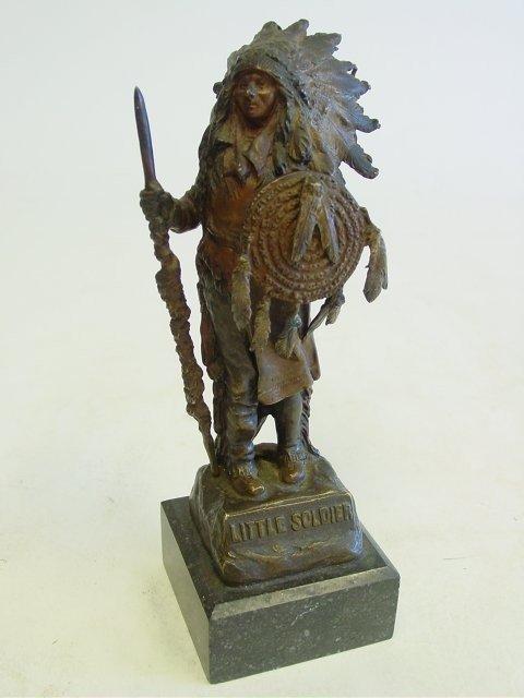 "1267: Karl Kauba ""Little Soldier"" bronze sculpture"
