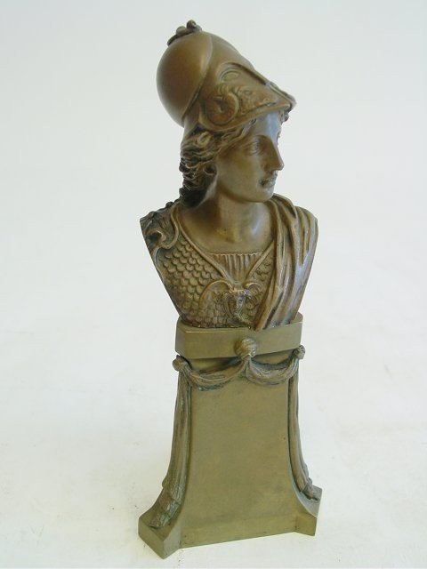 1268: Eugen Bormel bronze Roman soldier bust