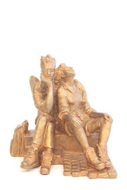 1269: Bronze Sculpture of Angel Hikers