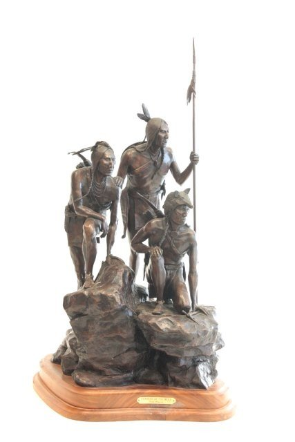 1290: Cody Houston Native Americans bronze sculpture