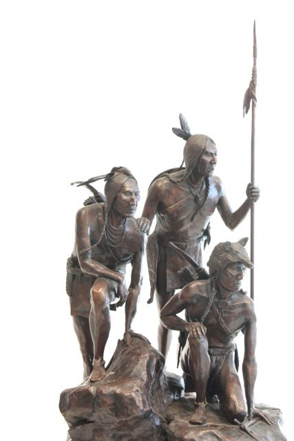 1290: Cody Houston Native Americans bronze sculpture - 2