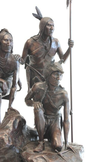 1290: Cody Houston Native Americans bronze sculpture - 3