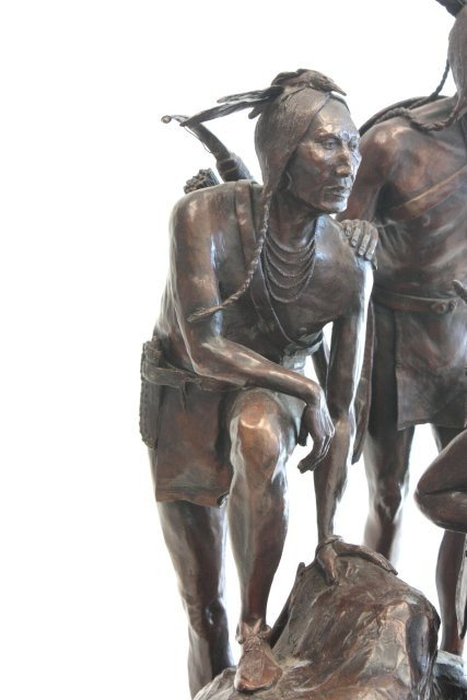 1290: Cody Houston Native Americans bronze sculpture - 4