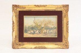 Mateo Saldana Orchard Scene Oil Painting