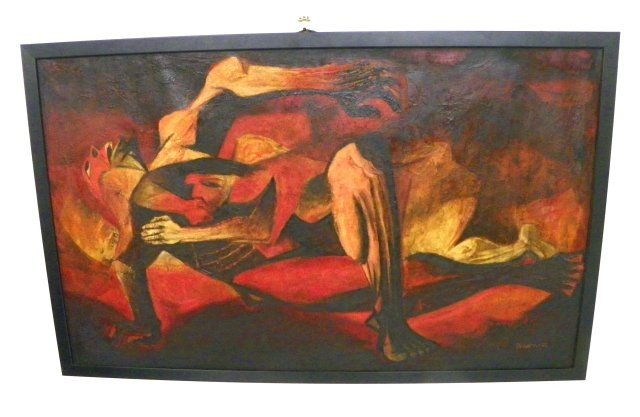 1354: Russian Abstract oil painting