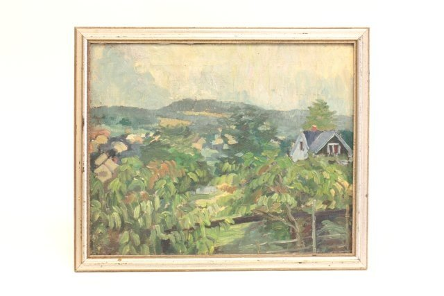 1363: Attributed to John Grabach landscape oil painting