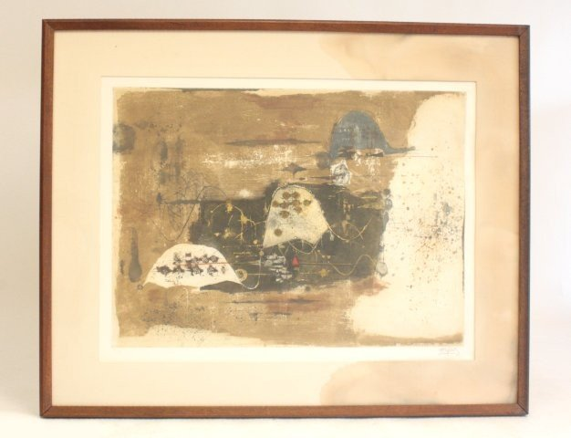 1091: Tapis abstract colored lithograph