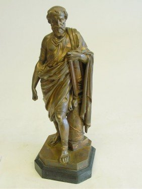 Greek Scholar Bronze Sculpture
