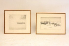 Two Kerr Eby Etchings