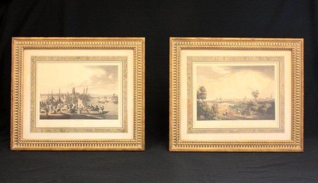 1078: Pair 19thc engravings German scenes