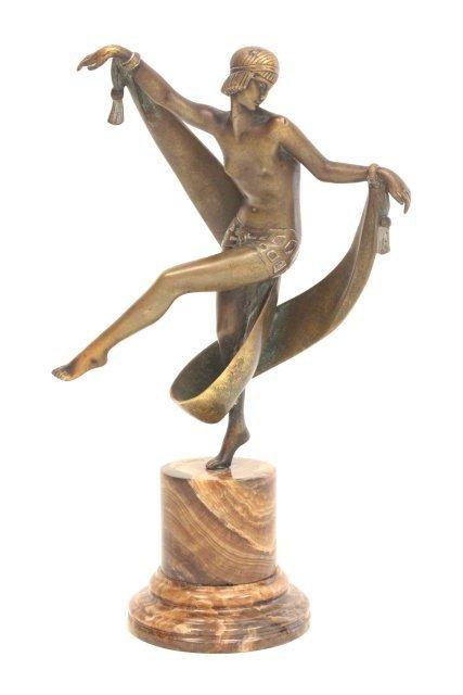 1090: Original Art Deco bronze signed Fanny Rozet