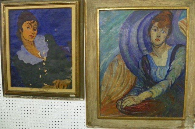 1093: Two oil paintings