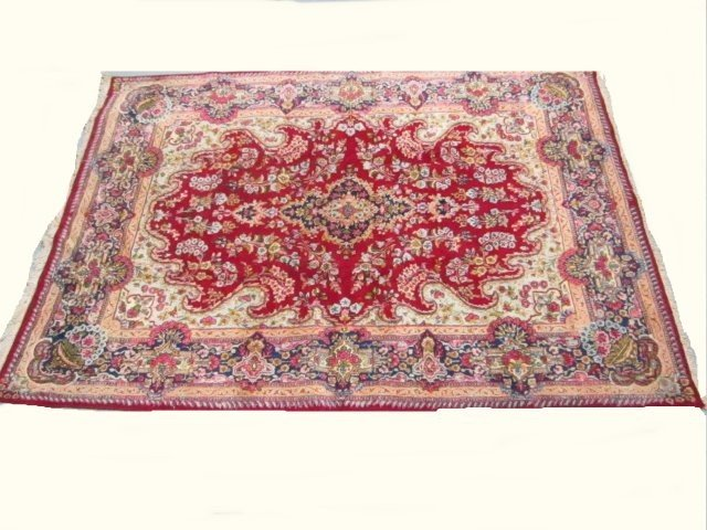 2006: Red Kazvin Persian rug