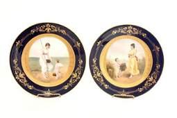 2423: Pair Royal Vienna plates signed C. Heer