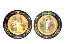 2424: Pair Royal Vienna plates signed C. Heer