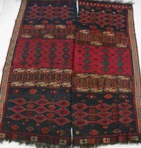 Pair Semi-antique Hanging Afghan Rugs