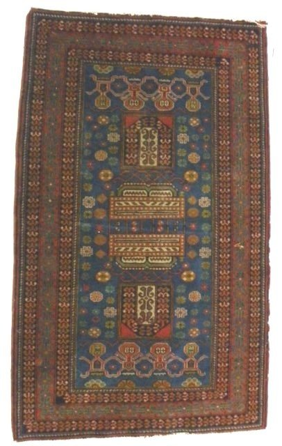 12: Antique Persian scatter rug