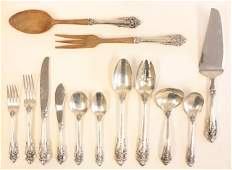 359A Grand Baroque sterling silver flatware set