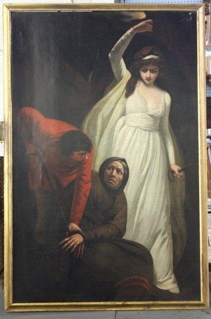 1206A: Exeptionally large gilt framed oil painting