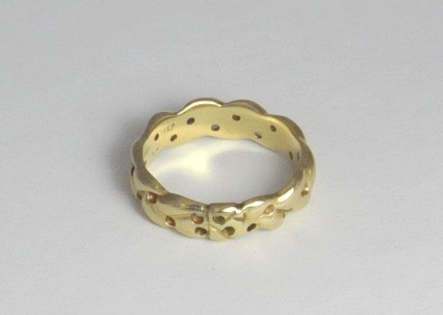1003: 14kt gold Tiffany ring