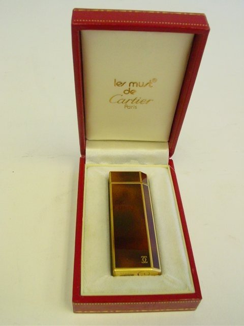 1020: Cartier boxed lighter - gold filled