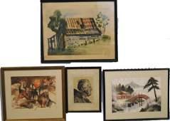 1230: Group lot of artwork