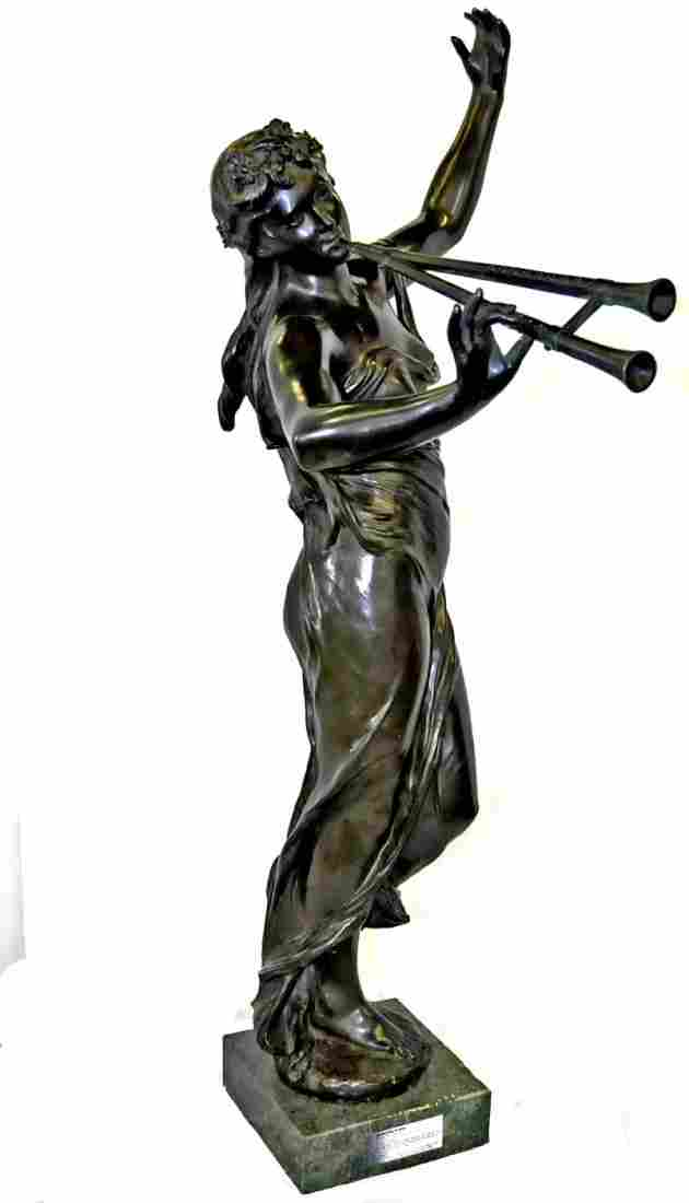 1399: 19th c. Eugene Marioton bronze sculpture