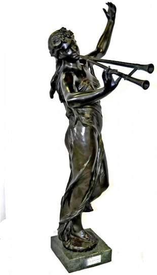 1399: 19th c. Eugene Marioton bronze sculpture