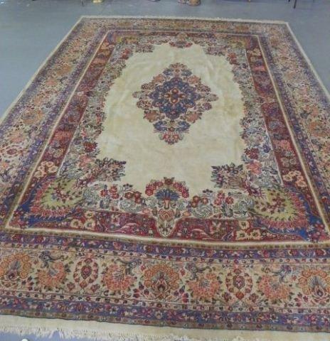 2A: Large ivory Sarouk rug