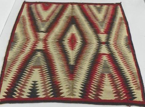 12: Authentic Navajo blanket (square)
