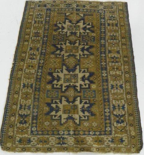 13: Antique Caucasian Shirvan rug