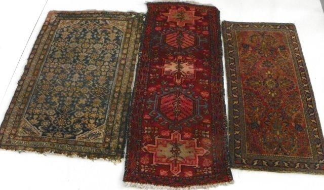 18: 3 Persian antique rugs